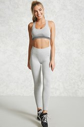 Forever 21 Active Ribbed Leggings Heather Grey