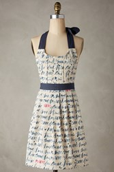 Anthropologie Language Of Love Apron Neutral