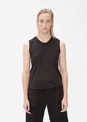 Raquel Allegra Fitted Muscle Tee Black