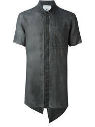 Lost And Found Rooms Asymmetric Distressed Shirt Grey