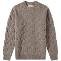 Barbour Thornton Cable Crew Knit Japan Collection Brown