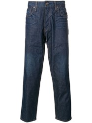 Levi's Made And Crafted Cropped Wide Jeans Blue