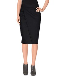 Gentryportofino Skirts Knee Length Skirts Women Steel Grey
