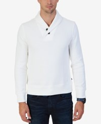 Nautica Men's Shawl Collar Sweater Marshmallow