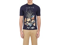 Loewe Men's Seashell Jersey T Shirt Navy