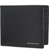 Burberry Saffiano Leather Wallet Blk