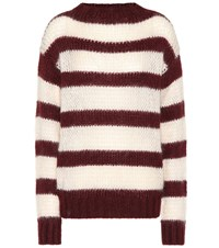 Prada Striped Wool And Mohair Blend Sweater Multicoloured