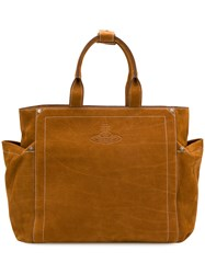 Vivienne Westwood Large Pocket Tote Bag Brown