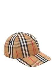 Burberry Vintage Check Cotton Baseball Hat Antique Yellow