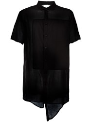 Lost And Found Rooms Panelled Shirt Black