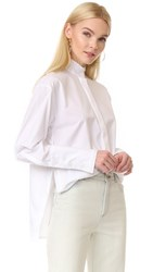Dion Lee Frayed Shirt White