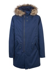Pretty Green Kallerton Parka Jacket Navy