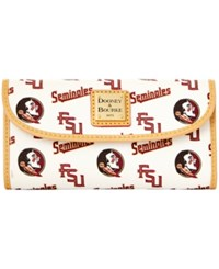 Dooney And Bourke Florida State Seminoles Large Continental Clutch White