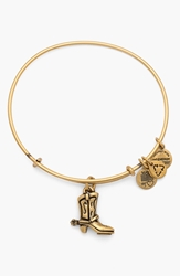 Alex And Ani 'Cowboy Boot' Expandable Wire Bracelet Russian Gold