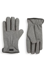Ted Baker London Wool Lined Gloves Grey