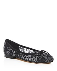 Paul Mayer Bingo Lace Ballet Flats Black Natural