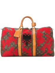 Jay Ahr Albania Flag Vintage Louis Vuitton Keepall Red