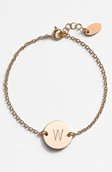 Women's Nashelle 14K Gold Fill Initial Disc Bracelet 14K Gold Fill W
