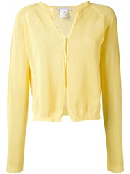 Fabiana Filippi Classic Cardigan Women Cotton 44 Yellow Orange