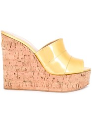 Giuseppe Zanotti Design Wedge Sandals Metallic