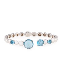 Molten Hinge Bangle With London Blue Topaz Michael Aram