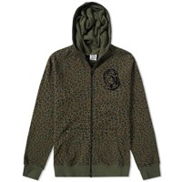 Billionaire Boys Club Leopard Print Zip Hoody Green