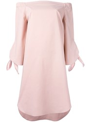 Erika Cavallini Off Shoulder Dress Pink Purple