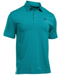 Under Armour Men's Playoff Performance Striped Golf Polo Pac Nvt Nv