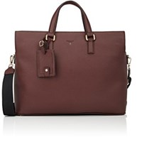 Serapian Men's Double Handle Briefcase Brown