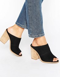 Call It Spring Galerassi Black Stack Heeled Mules Black Synthetic