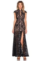 Jarlo Samantha Gown Black