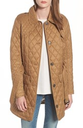 Barbour Hailes Quilted Trench Jacket Camel