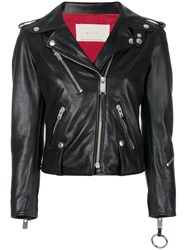 Alyx Zipped Jacket Cotton Calf Leather Leather Cupro M Black