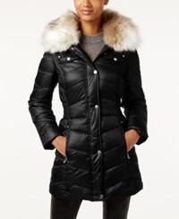 Laundry By Design Petite Faux Fur Trim Puffer Coat Bone