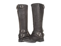 Frye Veronica Back Zip Black Stone Antiqued Leather Women's Zip Boots Pewter