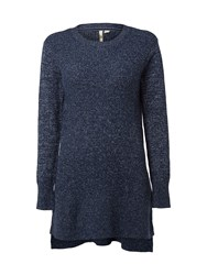 White Stuff Transfer Stitch Tunic Navy