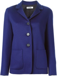 Jil Sander Straight Fit Blazer Blue