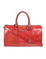 L.A.P.A. Cristoforo Colombo Collection Travel Bag Red