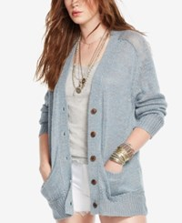 Denim And Supply Ralph Lauren V Neck Button Front Cardigan Chambray Blue