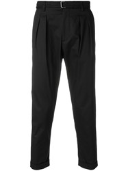 Low Brand Tapered Trousers Black