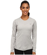 New Balance Heathered Long Sleeve Tee Athletic Grey Women's Long Sleeve Pullover Gray