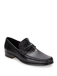 Bruno Magli Leather Moccassin Loafers Black