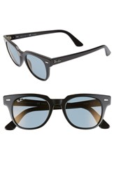 Ray Ban Meteor 50Mm Polarized Wayfarer Sunglasses Black Blue Mirror Black Blue Mirror