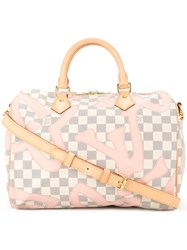 Louis Vuitton Vintage Speedy Bandouliere 30 2 Way Tote White