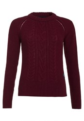 Superdry Cable Crew Jumper Purple