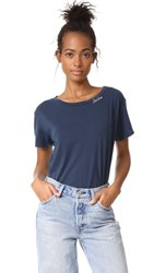 Mother Boxy Goodie Goodie Tee Navy