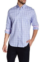 Tailorbyrd Lavender Long Sleeve Plaid Woven Shirt Purple
