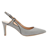 Mint Velvet Anya Leather Court Shoes Grey