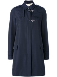 Fay Lightweight Coat Women Cotton Polyimide L Blue