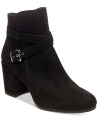 Madden Girl Righton Block Heel Booties Women's Shoes Black